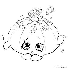 Cute Fruit Jello Shopkins Season 5 Coloring Pages Printable
