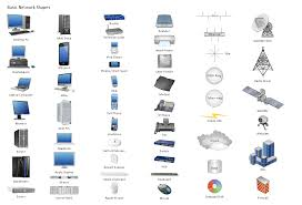 design element basic network professional network drawing apple airport base station at Apple Network Diagram