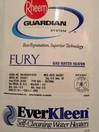 rheem 22v40f1. fury water heater by rheem 22v40f1