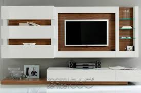 Small Picture Gallery 31 Wall Unit in White Lacquer and American Walnut by