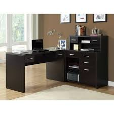 L shaped home office desk Modern Walmart Monarch Cappuccino Hollowcore Lshaped Home Office Desk Walmartcom