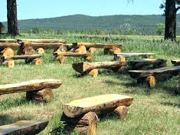 outdoor log benches post rustic outdoor log benches