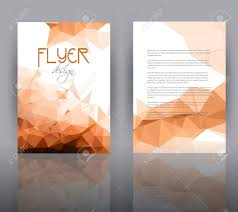 two sided flyer template free double sided flyer template with a low poly design stock photo