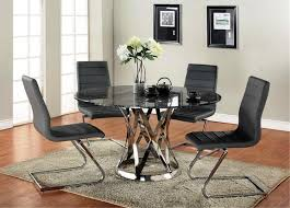 image of round glass kitchen dinette sets