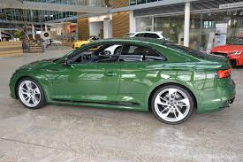 2018 audi parts. modren parts 2018 audi rs5 coupe in sonoma green spotted at forum ingolstadt for audi parts