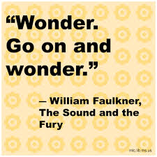 wonder go on and wonder william faulkner the sound and the  william faulkner the sound and the fury
