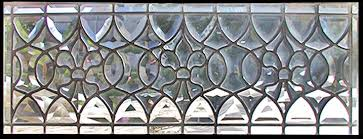 custom leaded glass all beveled transom window