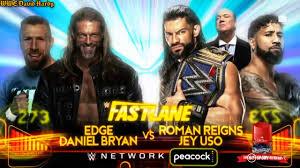 WWE Fastlane 2021 Daniel Bryan & Edge vs Roman Reigns & Jey Uso Official  Match Card HD - YouTube