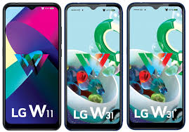 LG W11, W31 and W31+ with 6.52-inch ...