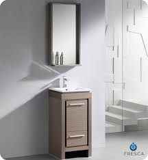 Fresca Allier Bathroom Vanity Grey Oak   ListVanitiesu0027s
