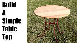 for round wood patio table top