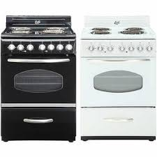 stove 24 inch. epic retro 24 in. electric coil range with porcelain cooktop stove inch