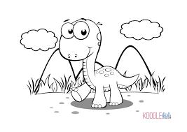 Disegni Da Colorare Dei Dinosauricucciolo Di Dinosauro Sullerba