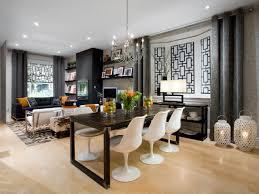 Dining Room Luxury Large Kitchen Design With White Wooden Kitchen - Modern interior design dining room