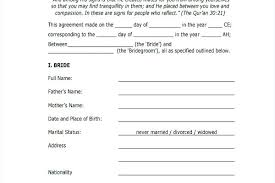 Marriage Contract Sample Form Well Draft Perfect Thus With Medium ...