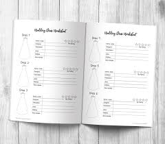 Wedding Planning Book Complete With Timeline Checklists More Wedding Planning Book