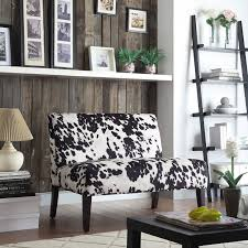 Inspire Q Black Cow Hide Loveseat - Espresso | from hayneedle.com