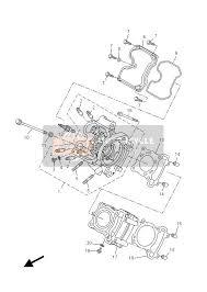 yamaha yzf r125 2012 spare parts msp cylinder head
