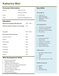 Scannable Resume Format Resume Samples