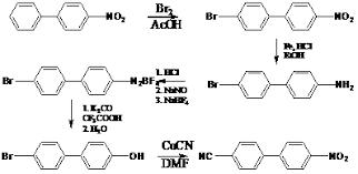 Литературный обзор Синтез бром гидроксибифенила Дипломы  4 нитробифенил получали по описанной в работе 1 методике 4 Бром 4 нитробифенил получали нагреванием смеси 4 нитробифенила ледяной уксусной кислоты и
