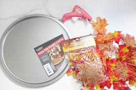 dollar fall decor tree diy charger plate this is our bliss home