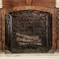 astonishing ideas bronze fireplace screen antique