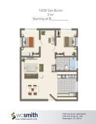 Small 2 Bedroom Floor Plans 2 Bedroom Floor Plan 1400 Van Buren Apartments In Northwest