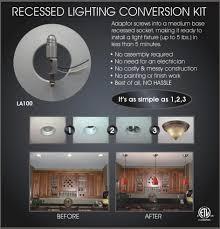 Recessed Light Pendant Conversion Kit The Amazing Can Light Conversion To Pendant Regarding