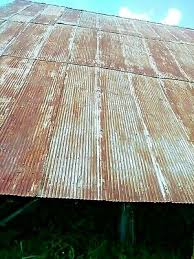 corrugated semi rust reclaimed metal roofing tin sold by the square foot