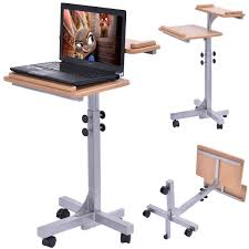 office tables on wheels. adjustable wooden laptop table with work top and wheels desks office furniture tables on d