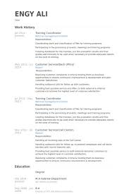 Training Coordinator Resume Samples Visualcv Resume Samples Database