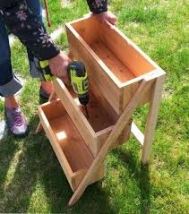 make your own vertical herb planter