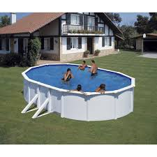 Piscine Hors Sol Interesting Piscine Grenat Gonflable Grise Ronde