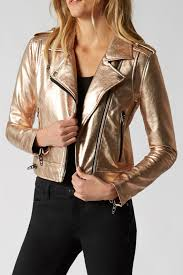 blank nyc metallic moto jacket front cropped image