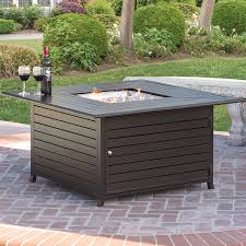 outdoor fire table. Best Choice Products Extruded Aluminum Gas Outdoor Fire Pit Table With Cover C