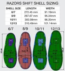 Shift Size Chart Razors Shift Aggressive Skates