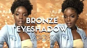simple bronze makeup tutorial for dark skin pfg