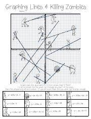 Killingzombies pdf graphing lines killing zombies sterling. Math100b Document Killingzombies Pdf Graphing Lines Killing Zombies Name Equations X 5y 5 X Y 6 Y 3x 6 Y 2x 12 X 2y 20 X 9 Y X 9 Y 6 Y 2x 14 Y X X Course Hero