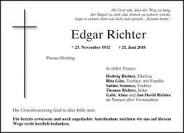 Edgar Richter - PNP Trauerportal