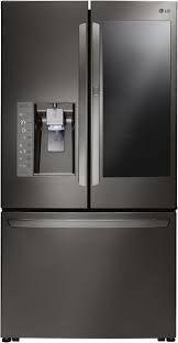 glass refrigerator door refrigerators high end look aj madison