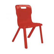 red school chair. Modren Red Titan One Piece School Chair Size 4 Red KF72164 Intended
