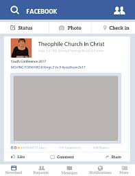 facebook theophile church in christ facebook selfie frame