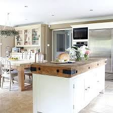 white country kitchen with butcher block. White Island Dark Butcher Block Cabinets Country Kitchen With Large Butchers Bin M