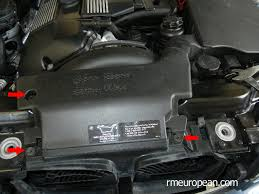 bmw e46 cooling system overhaul removing air scoop