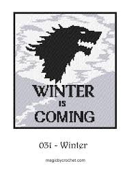 Double Bed Size C2c Crochet Graph Winter Is Coming Pdf Chart Written Count Row By Row Graphgan No 031
