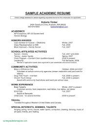 Sample Resume For College Graduate 25 Recent College Graduate