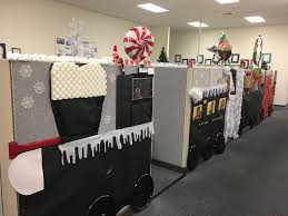 office holiday decorations. Cubicle Office Holiday Decorating-Polar Express Decorations 0