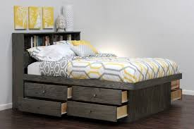 Modern Queen Bed With Storage Underneath And There Are Cushion ...