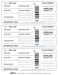 Free Ticket Generator Boarding Pass Invitation SaveTheDate Template Basic Other 10