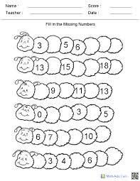 Printable kindergarten worksheets numbers | Download them or print